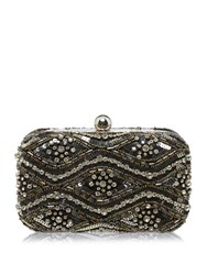 Biba Embellished Clutch Bag Silver