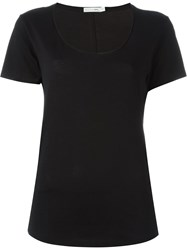 Rag And Bone Rag And Bone Scoop Neck T Shirt Black