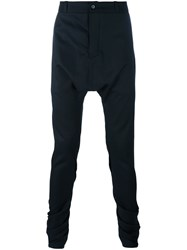 A New Cross Twisted Drop Crotch Trousers Black