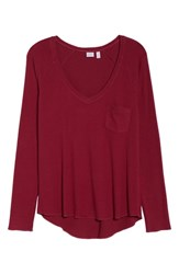 Make Model Raglan Tee Burgundy Berry