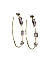 Ippolita 18K Deco Hoop Amethyst Earrings