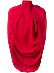 Magda Butrym Medford Cape Red