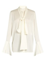 Ellery Little Me Double Georgette Blouse Ivory