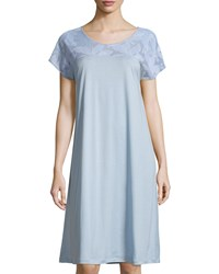 Hanro Yolanda Cap Sleeve Nightgown Tourmaline Women's Size S