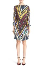 Etro Women's Ikat Print Side Knot Dress
