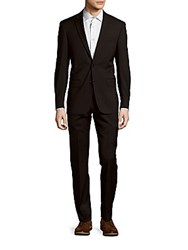 John Varvatos Solid Wool Suit Black