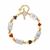 Sophie Harley London Wild Card Bracelet Black Red Gold