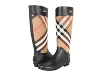 Burberry Check Panel Rainboots House Check Women's Rain Boots Gray