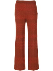 Missoni Cropped Trousers Nylon Polyester Rayon Alpaca Brown