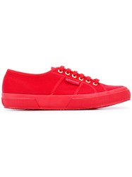 Superga Classic Lace Up Sneakers Women Cotton Foam Rubber 38 Red
