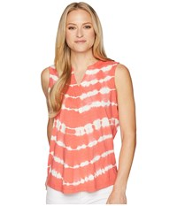 Aventura Clothing Fiji Tie Dye Tank Top Deep Sea Coral Sleeveless Red