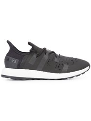 Y3 Sport Lace Up Sneakers Black