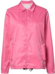 Julien David Buttoned Jacket Pink Purple