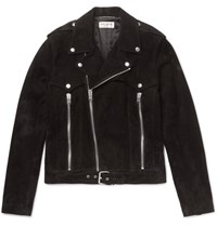 Saint Laurent Suede Biker Jacket Black
