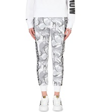 Aape By A Bathing Ape Camouflage Print Cotton Jersey Jogging Bottoms White Camo