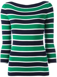 Michael Kors Striped Jumper Green