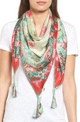 Johnny Was Women's Whisper Silk Square Scarf Mixed Print