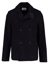 Folk Short Coat Navy Dark Blue