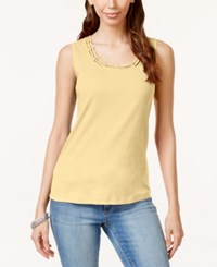 Karen Scott Cutout Tank Top Only At Macy's New Lemon