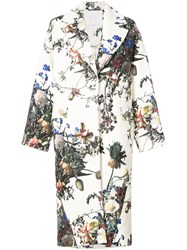 Adam By Adam Lippes Floral Print Cocoon Coat Wool