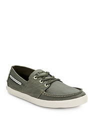 Tretorn Otto Waxed Canvas Sneakers Hunter Green