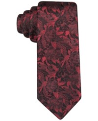 Alfani Men's Rose Floral Slim Tie Only At Macy's Red