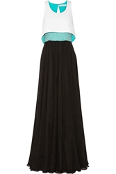 Prabal Gurung Convertible Beaded Silk Chiffon And Crepe Gown