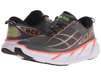 Hoka One One Clifton 2 Grey Neon Coral Women's Running Shoes Gray