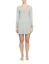 Candc California Textured Thermal Night Shirt Heather Grey