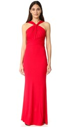 Badgley Mischka Collection High Neck Gown Red