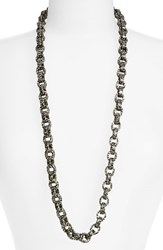 Women's L. Erickson 'Sophie' Link Necklace Opera Silver