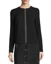 Alexander Wang Pierced Long Sleeve Tunic Black
