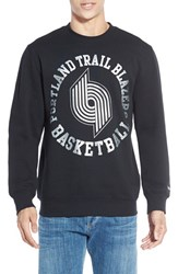 Men's Mitchell And Ness 'Portland Trailblazers' Tailored Fit Fleece Crewneck Sweatshirt
