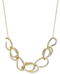 Danori Gold Tone Pave Link Statement Necklace 16 2 Extender