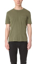 Officine Generale Pocket Tee Faded Olive