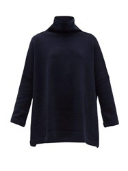 Connolly Roll Neck Cashmere Sweater Navy