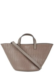 Meli Melo Rosalia Mini Taupe Leather Tote Grey