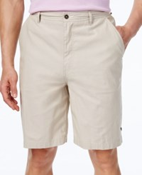 Geoffrey Beene Men's Classic Fit Chambray Shorts Khaki