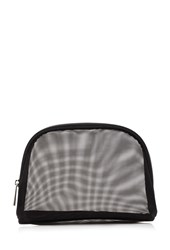 Forever 21 Mesh Makeup Pouch Black Silver