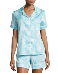 Bedhead Chandelier Print Short Pajama Set Blue Plus Size Blue Chandelier