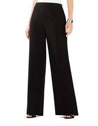 Bcbgmaxazria Mitchel Wide Leg Trouser Pants Black