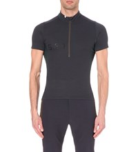 Paul Smith Zipped Jersey Cycling T Shirt Indigo