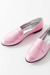 Urban Outfitters Gigi Glitter Loafer Pink