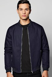 Boohoo Canvas Biker Detailed Ma1 Bomber Navy
