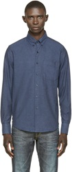 Naked And Famous Blue Twill Shirt