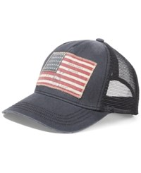 Denim And Supply Ralph Lauren Men's American Flag Patched Cap Black