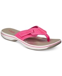 Clarks Collection Women's Brinkley Bree Flip Flops Women's Shoes Fuschia
