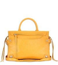 Balenciaga Mute City Small Leather Tote Yellow
