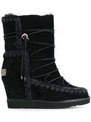Mou Wedged Boots Black