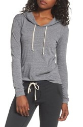 Alternative Apparel Women's Classic Pullover Hoodie Eco Grey